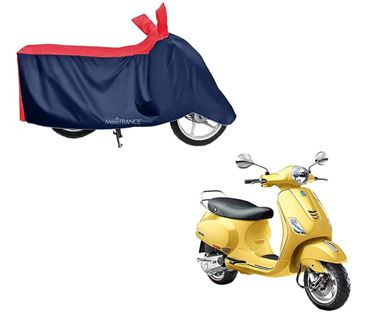 Picture of Sporty Red Blue Two Wheeler Cover For Piaggio Vespa VXL 150