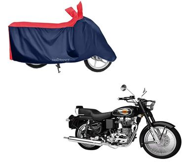 Picture of Sporty Red Blue Two Wheeler Cover For Royal Enfield Bullet 500