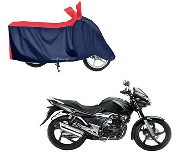 Picture of Sporty Red Blue Two Wheeler Cover For Suzuki GS 150R