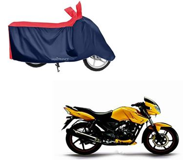 Picture of Sporty Red Blue Two Wheeler Cover For TVS Apache RTR