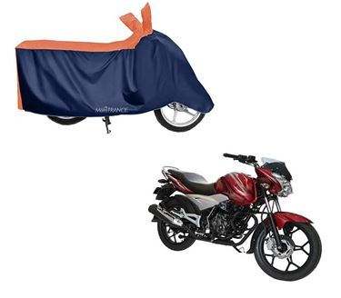 Picture of Sporty Orange Blue Two Wheeler Cover For Bajaj Discover 125ST