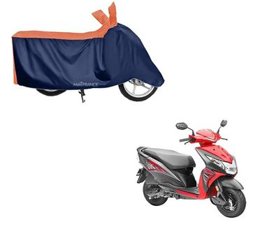 Picture of Sporty Orange Blue Two Wheeler Cover For Honda Dio