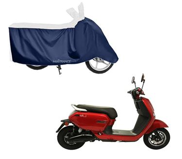 Picture of Sporty White Blue Two Wheeler Cover For Okinawa Lite 2019