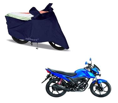 Picture of Sporty Arc Blue Freedom Tri  Two Wheeler Cover For Honda Livo