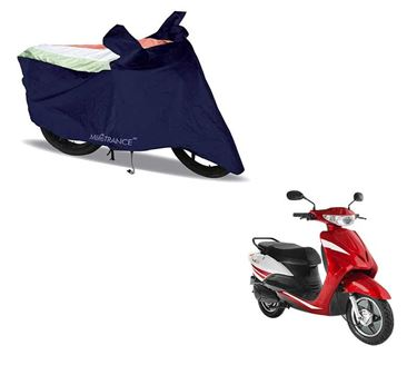 Picture of Sporty Arc Blue Freedom Tri  Two Wheeler Cover For Yo Xplor