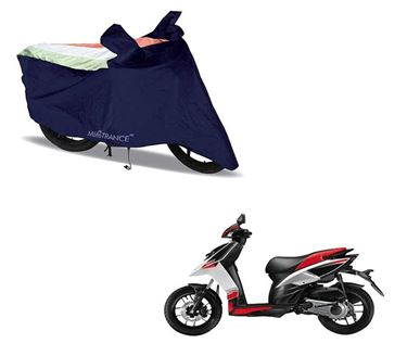 Picture of Sporty Arc Blue Freedom Tri Two Wheeler Cover For Aprilia SR 150