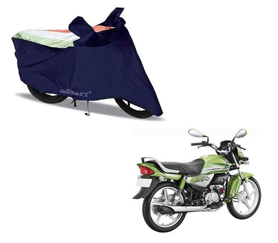 Picture of Sporty Arc Blue Freedom Tri Two Wheeler Cover For Hero HF Deluxe Eco