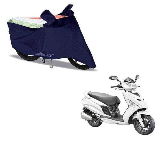 Picture of Sporty Arc Blue Freedom Tri Two Wheeler Cover For Hero Maestro Edge
