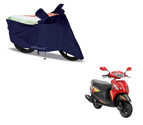Picture of Sporty Arc Blue Freedom Tri Two Wheeler Cover For Hero Pleasure