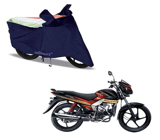 Picture of Sporty Arc Blue Freedom Tri Two Wheeler Cover For Mahindra Centuro Rockstar
