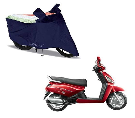 Picture of Sporty Arc Blue Freedom Tri Two Wheeler Cover For Mahindra Gusto 125