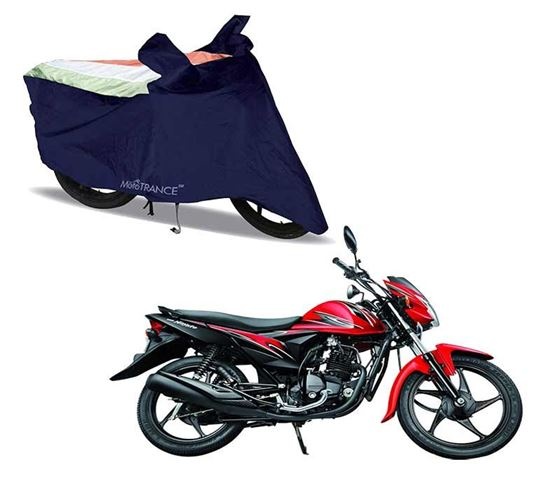 Picture of Sporty Arc Blue Freedom Tri Two Wheeler Cover For Suzuki Hayate EP