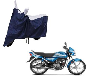 Picture of Sporty Blue Two Wheeler Cover For Hero HF Deluxe