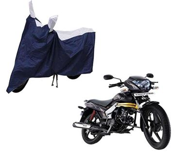 Picture of Sporty Blue Two Wheeler Cover For Mahindra Centuro