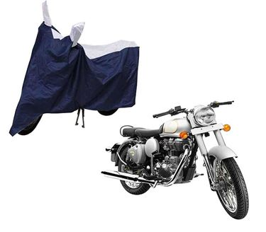 Picture of Sporty Blue Two Wheeler Cover For Royal Enfeild Classic 350