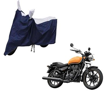 Picture of Sporty Blue Two Wheeler Cover For Royal Enfeild Thunderbird