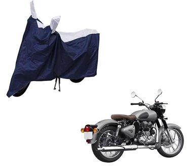 Picture of Sporty Blue Two Wheeler Cover For Royal Enfield Classic 500