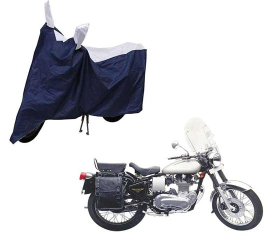 Picture of Sporty Blue Two Wheeler Cover For Royal Enfield Machismo 500