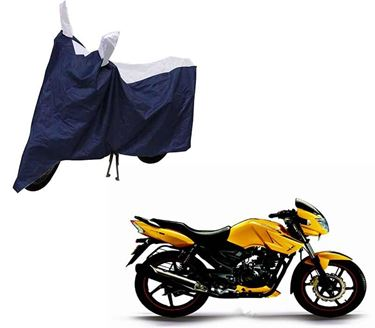 Picture of Sporty Blue Two Wheeler Cover For TVS Apache RTR