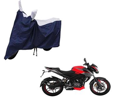 Picture of Sporty Arc Blue Sporty Blue Two Wheeler Cover For Bajaj Pulsar NS160