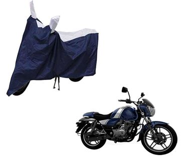 Picture of Sporty Arc Blue Sporty Blue Two Wheeler Cover For Bajaj V12