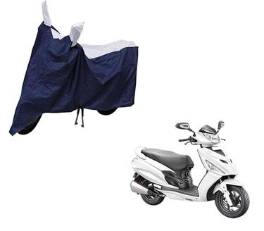 Picture of Sporty Arc Blue Sporty Blue Two Wheeler Cover For Hero Maestro Edge
