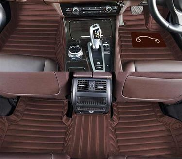 Picture of 5D Carbon Fiber Style Custom Fitted Car Mats For Honda City 2017 - Coffee
