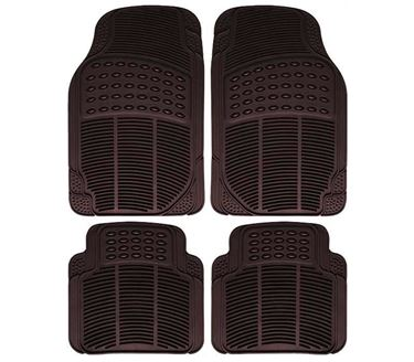 Picture of Imported Universal Set of 4 Car Foot Mats - Smoke Black