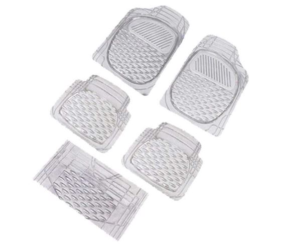 Picture of Imported Universal Car Foot Mats Transparent Set of 5