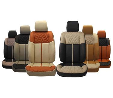Picture of 3D Custom PU Leather Car Seat Covers for Toyota New Fortuner (2016) - (HT-502 Caviar)