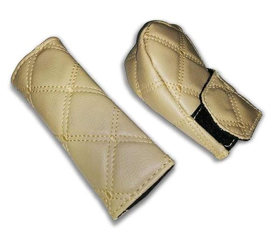 Picture of PU Leather Gear Shift Knob and Handbrake Cover Set - Beige