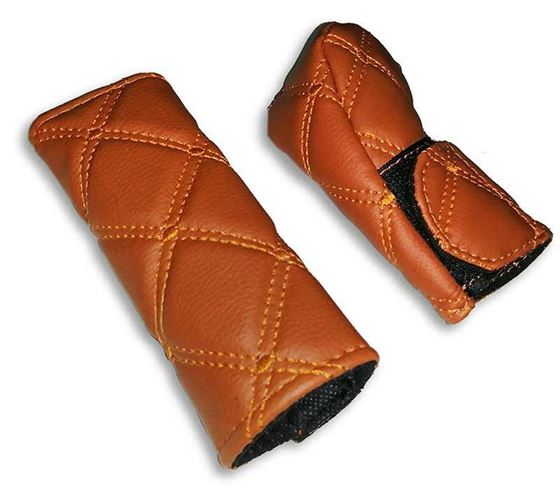 Picture of PU Leather Gear Shift Knob and Handbrake Cover Set - Tan