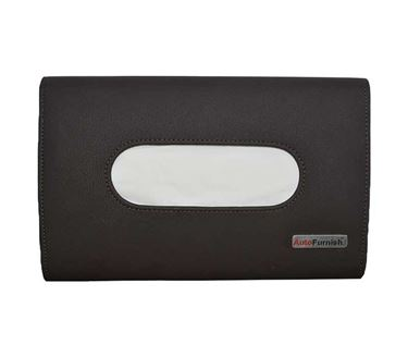 Picture of Premium Car Sun Visor Tissue Holder Box with Free Tissues - Coffee