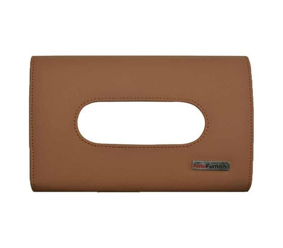 Picture of Premium Car Sun Visor Tissue Holder Box with Free Tissues - Brown