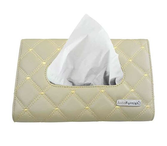 Picture of 7D Car Sun Visor Tissue Holder Box with Free Tissues - Beige