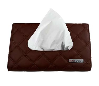 Picture of 7D Car Sun Visor Tissue Holder Box with Free Tissues - Coffee
