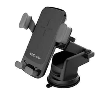 Picture of Portronics POR-044 Charge Clamp Wireless Car Mobile Charger Cum Mobile Holder (Black)