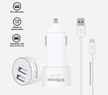 Picture of Portronics POR-663 Car Power 2T 2.4A Car Charger with Dual USB Ports