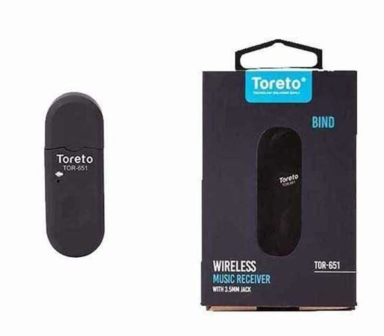 Picture of Toreto Bind Bluetooth Dongle - Car Audio Receiver, Music Playback - TOR 651