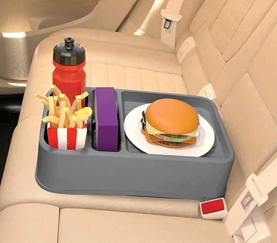 Picture of Universal Portable Food & Beverage Tray - Grey