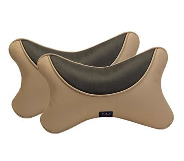 Picture of Premium Car Pillow Neck Rest (Hecta-6730) Set of Two - Beige