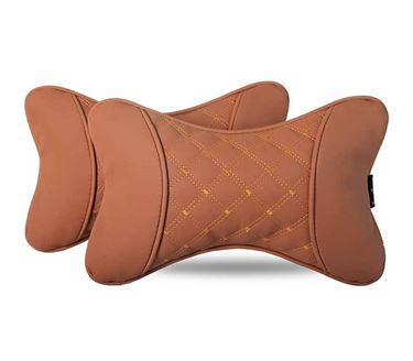 Picture of 7D Premium Car Pillow Neck Rest (Hecta-6840) - Set of Two - Tan
