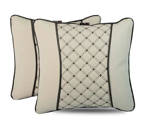 Picture of 7D Premium Universal Backrest Cushion (Hecta-6850) - Set of Two - Beige