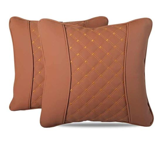 Picture of 7D Premium Universal Backrest Cushion (Hecta-6850) - Set of Two - Tan