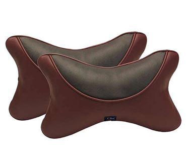 Picture of Premium Car Pillow Neck Rest (Hecta-6730) Set of Two - Cherry