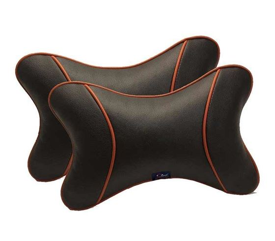 Picture of Premium Car Pillow Neck Rest (Hecta-6740) Set of Two - Black