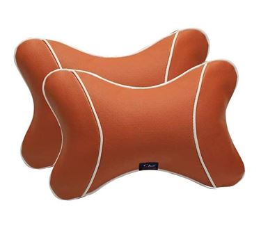 Picture of Premium Car Pillow Neck Rest (Hecta-6740) Set of Two - Tan