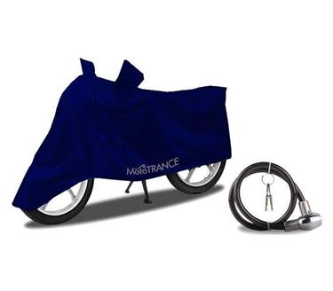 Picture of Universal Blue Two Wheeler Body Cover + Helmet Lock