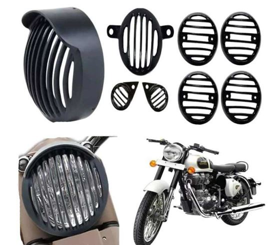 Picture of Indicator, Eyes, Tail and Head Light Grill for Royal Enfield Bullet Classic