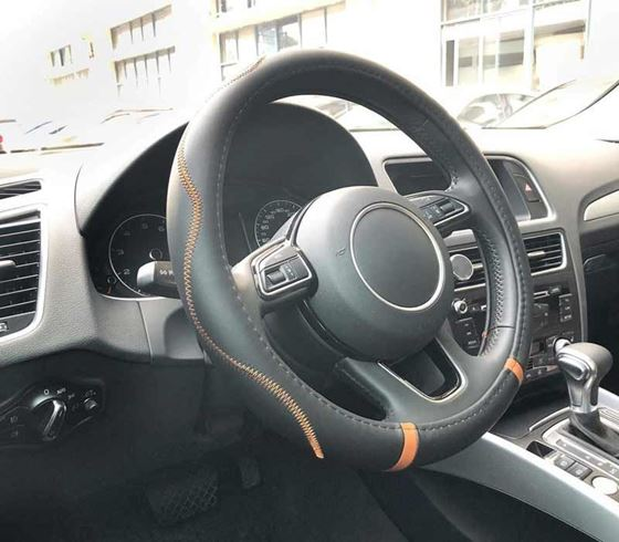 Picture of (AFSC-CS104-BLOR) Universal Premium Leatherite Car Steering Wheel Cover - Medium Size (380mm)